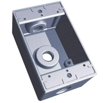 1-Gang Deep Rectangular Electrical Box with 3 1 in. Holes