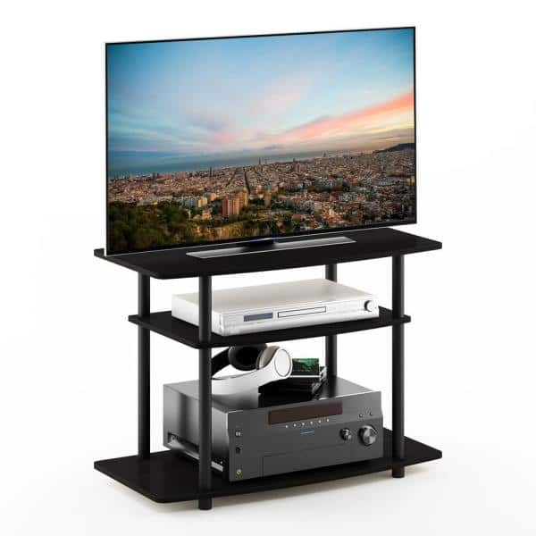Furinno Turn N Tube 31 5 In Espresso And Black Particle Board Tv Stand Fits Tvs Up To 32 In With Open Storage 13192ex Bk The Home Depot