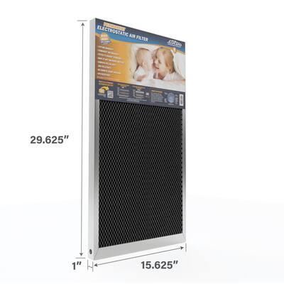 16 in. x 30 in. x 1 in. Permanent Electrostatic Air Filter Merv 8