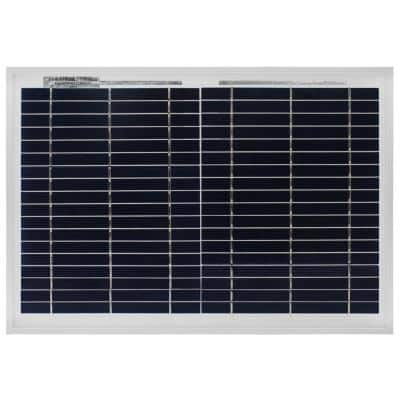 10-Watt Polycrystalline Solar Panel with 6 ft. Alligator Clips for RV's, Camping, Boats, and Gate Openers