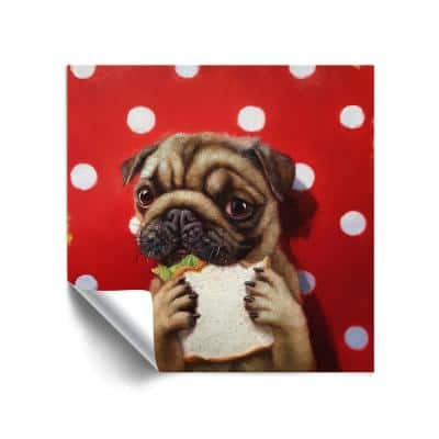 'Pugalicious' Removable Wall Mural