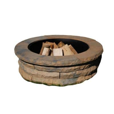 Ledgestone 47 in. Concrete Fire Pit Ring Kit Tan Variegated