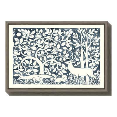 """Forest Life IV"" by Miranda Thomas Framed Canvas Wall Art"