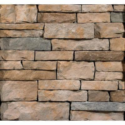 Aspen Ledgestone Flats 2 in. to 8 in. x 6 in. x 20 in. Manufactured Stone Ledgestone Flat 10 sf. ft. Pack