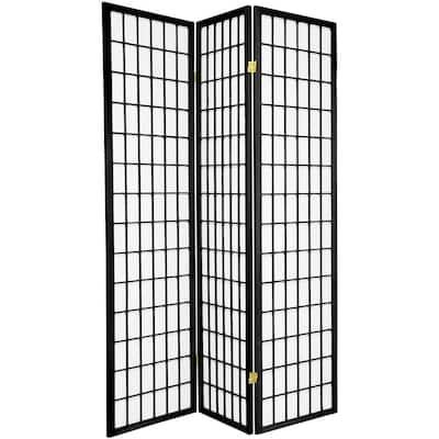 6 ft. Black 3-Panel Room Divider