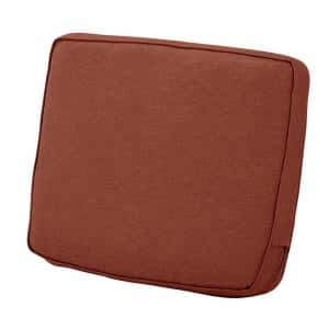 25 in. W x 22 in. H x 4 in. T Montlake Heather Henna Red Rectangular Outdoor Lounge Chair Back Cushion