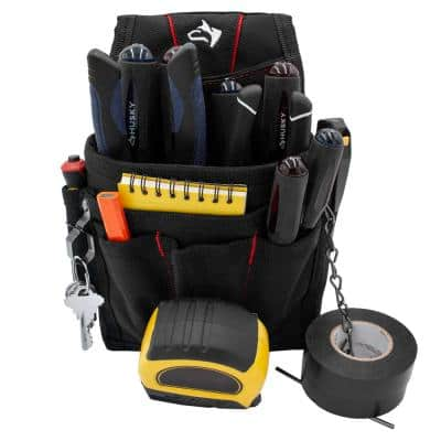 9-Pocket Black Maintenance Tool Pouch