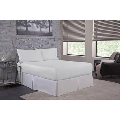 4-Piece White Solid 1000TC Egyptian Cotton California King Sheet Set