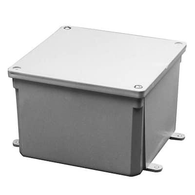 6 in. x 6 in. x 4 in. Gray PVC Junction Box