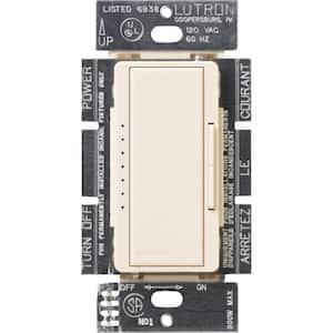 Maestro 600-Watt Multi-Location Electronic Low-Voltage Digital Dimmer, Eggshell