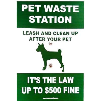 12 in. x 16 in. Doggy Do Pet Waste Sign