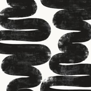White & Black Vinyl Peel & Stick Moisture Resistant Wallpaper Roll (Covers 56 Sq. Ft.)