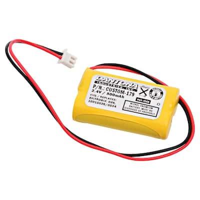 Dantona 2.4-Volt 600 mAh Ni-Cd battery for Exitronix - 10010034 Emergency Lighting