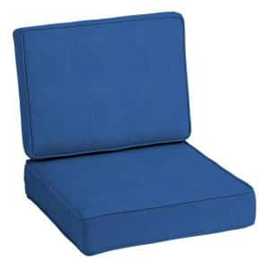 ProFoam 24 in. x 24 in. Lapis Acrylic 2-Piece Deep Seating Outdoor Lounge Chair Cushion