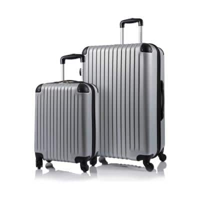CHAMPS Tourist 29 in., 20 in. Silver Hardside Luggage Set with Spinner Wheels (2-Piece)