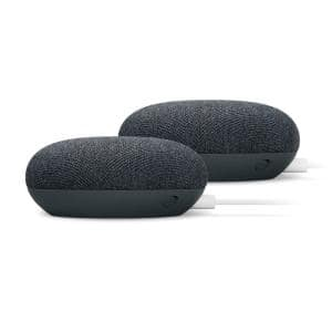Nest Mini (2nd Gen) - Smart Home Speaker with Google Assistant in Chalk (2-Pack)