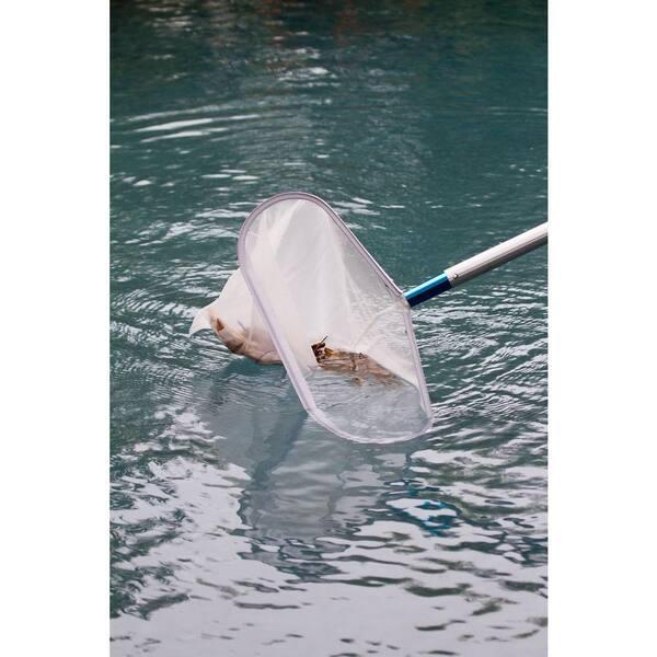 Pool Leaf Rake with 5 ft Stainless Steel Pole MIYA Pool Net Rake Fine Mesh Net Leaf Skimmer for Swimming Pool Pool Leaf Skimmer