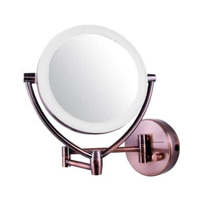 Wall Mount Mirror with 3 LED Lighting Tones, Battery or Cord Operated, 1x/10x Magnification (MLW95AB)