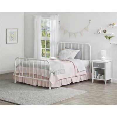 Monarch Hill Wren White Full Size Metal Bed Frame