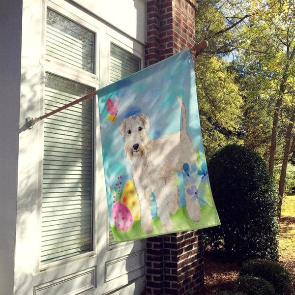Caroline S Treasures 28 In X 40 In Polyester Easter Eggs Wheaten Terrier Flag Canvas House Size 2 Sided Heavyweight Ck1894chf The Home Depot