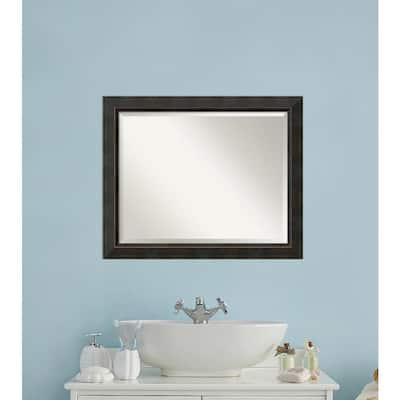 Signore 33 in. W x 27 in. H Framed Rectangular Bathroom Vanity Mirror in Bronze
