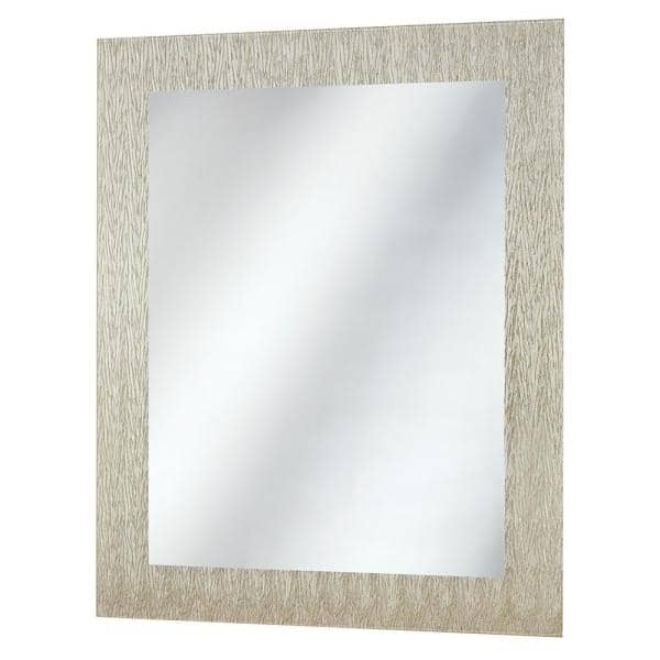 Home Decorators Collection 23 In W X 28 5 In H Frameless Rectangular Bathroom Vanity Mirror In Silver 45386 The Home Depot