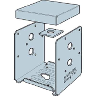 ABU ZMAX Galvanized Adjustable Standoff Post Base for 6x6 Nominal Lumber
