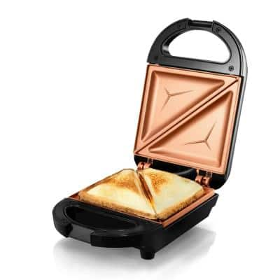 Ti-Ceramic Black Non-Stick Single Sandwich Maker
