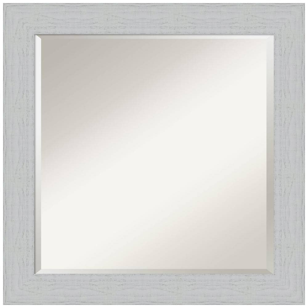 Amanti Art Medium Rectangle Distressed White Beveled Glass Classic Mirror 24 25 In H X 24 25 In W Dsw4407190 The Home Depot