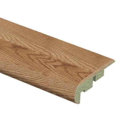 Chesapeake Oak/Lansbury Oak 3/4 in. Thick x 2-1/8 in. Wide x 94 in. Length Laminate Stair Nose Molding