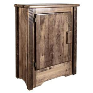 Homestead Collection Left Hinged Brown Accent Cabinet