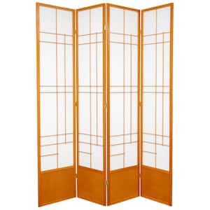 7 ft. Honey 4-Panel Room Divider