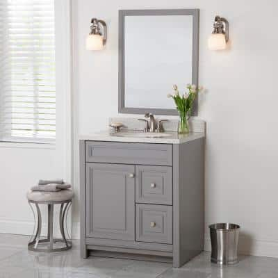 30 Inch Vanities Gray Bathroom Vanities Bath The Home Depot