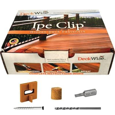 Extreme Ipe Clip Brown Biscuit Style Hidden Deck Fastener Kit for Hardwoods (175-Pack)