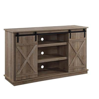 Bellona 16 in. D Oak Finish TV Stand with 7 Shelves Fits TV's up to 72 in.