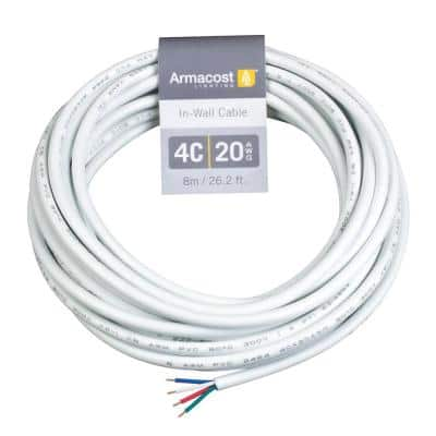 24 ft. 20 AWG 4C In-Wall Cable