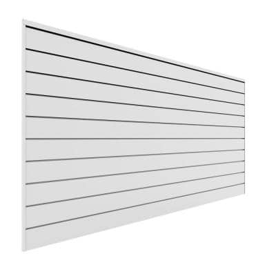 PVC Slatwall 8 ft. x 4 ft. White