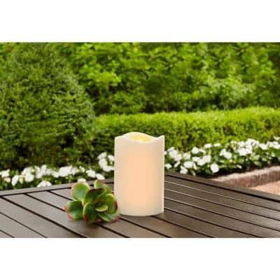 3 in. x 4.5 in. Remote Ready Battery Operated Outdoor Patio Resin LED Candle