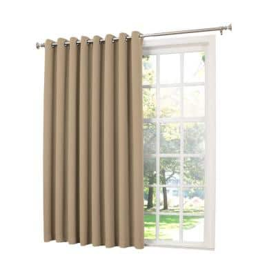 Taupe Solid Grommet Room Darkening Curtain - 100 in. W x 84 in. L