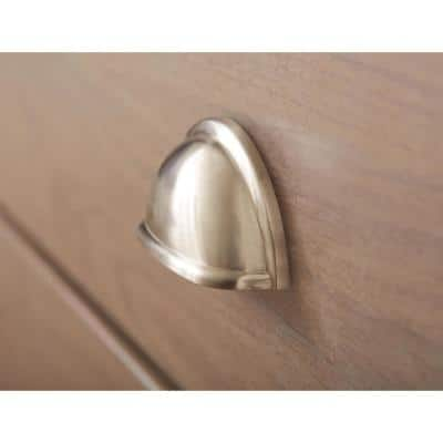 Cup Pulls Collection 3 in (76 mm) Center-to-Center Satin Nickel Cabinet Cup Pull