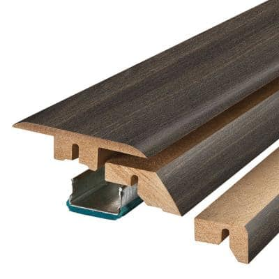 Black Valley Oak 0.75 in. Thick x 2.37 in. Wide x 78.75 in. Length Laminate 4-in-1 Molding