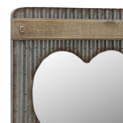 Medium Rectangle Gray Mirror (20 in. H x 15.402 in. W)