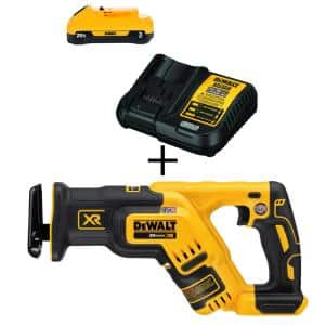 20-Volt MAX XR Cordless Brushless Compact Reciprocating Saw with (1) 20-Volt Battery 3.0Ah & Charger