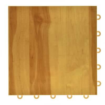Basketball Pro 12 in. W x 12 in. L Maple Interlocking Gym Court Vinyl Tile Flooring (20 sq. ft.) (20-pack)
