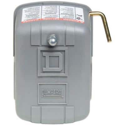 Pumptrol 30-50 psi Well Pump Water Pressure Switch with Low Pressure Cut-Off - Clear Packaging