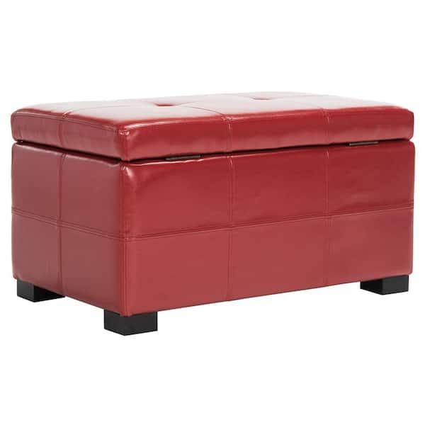 Safavieh Kerrie Red Storage Bench, Storage Bench Red
