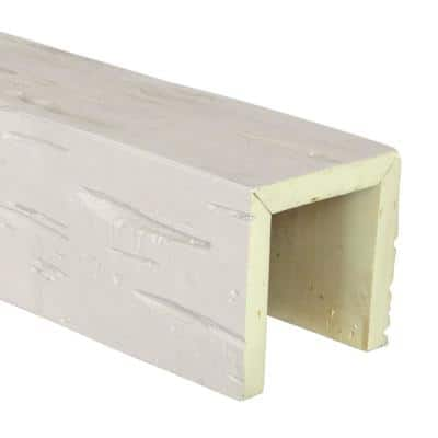 SAMPLE - 6 in. x 12 in. x 6 in. Urethane 3-Sided (U-Beam) Pecky Cypress Faux Wood Ceiling Beam, Unfinished Finish