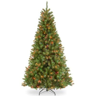 7.5 ft. North Valley Spruce Artificial Christmas Tree with 550 Multi-Color Lights