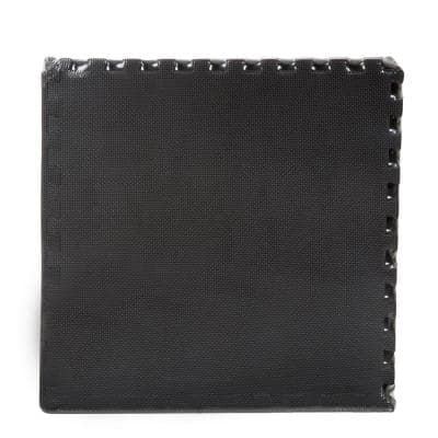 Black 24 in. W x 24 in. L x 0.375 in. T Foam Interlocking Floor Mat Tiles for Home Gym (24 sq. ft.) (6-Pack)