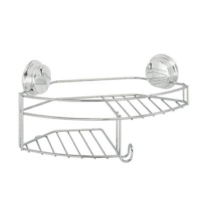 Twist 'N' Lock Plus Combo Shower Basket in Chrome